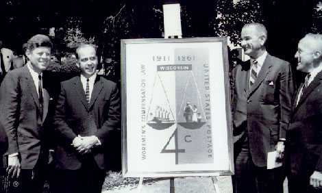 Workers Compensation Insurance Anniversary 1961 Stamp Presentation